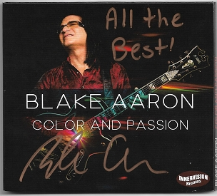 Blake Aaron - Color and Passion Autographed CD - NEW RELEASE!